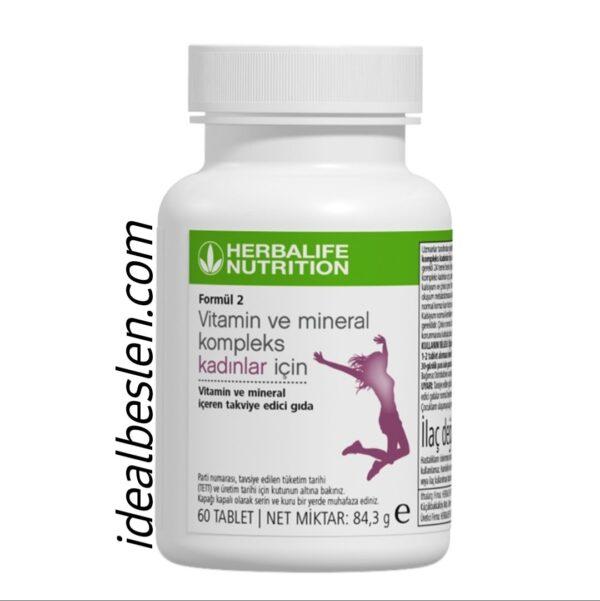 Formül 2 Kadınlar İçin Özel Vitamin Mineral Kompleks