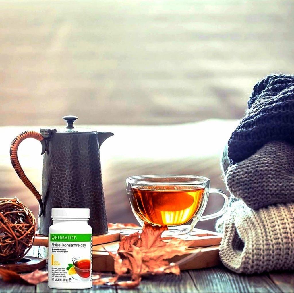 Herbal bitkisel konsantre limonlu çay