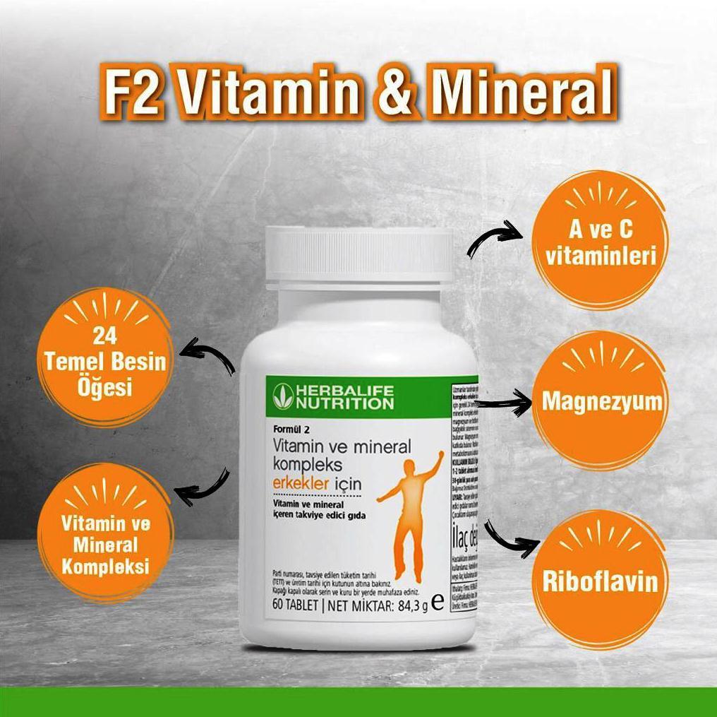 Herbalife Formül 2 Erkekler İçin Vitamin ve Mineral Kompleks