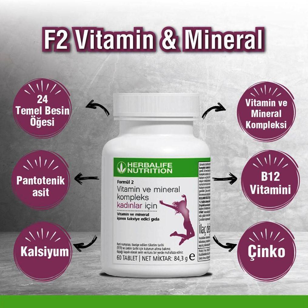 Herbalife Formül 2 Kadınlar İçin Vitamin ve Mineral Kompleks