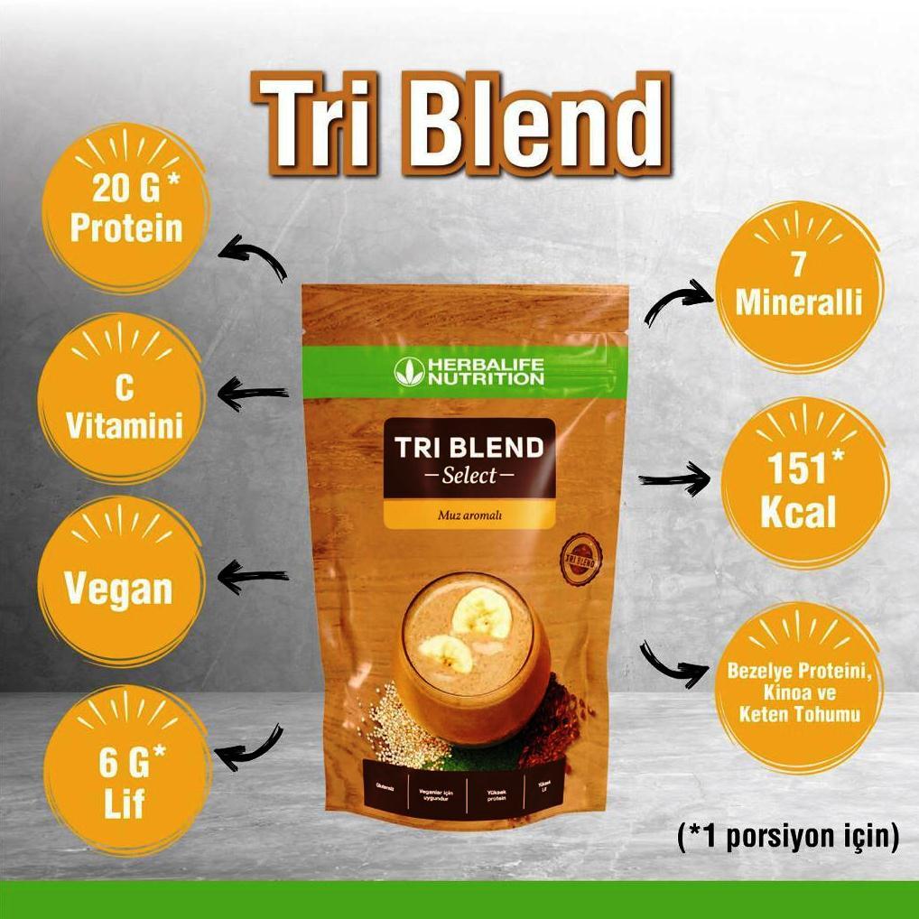 Herbalife Nutrition Tri Blend Select Muz Aromalı İçecek Tozu