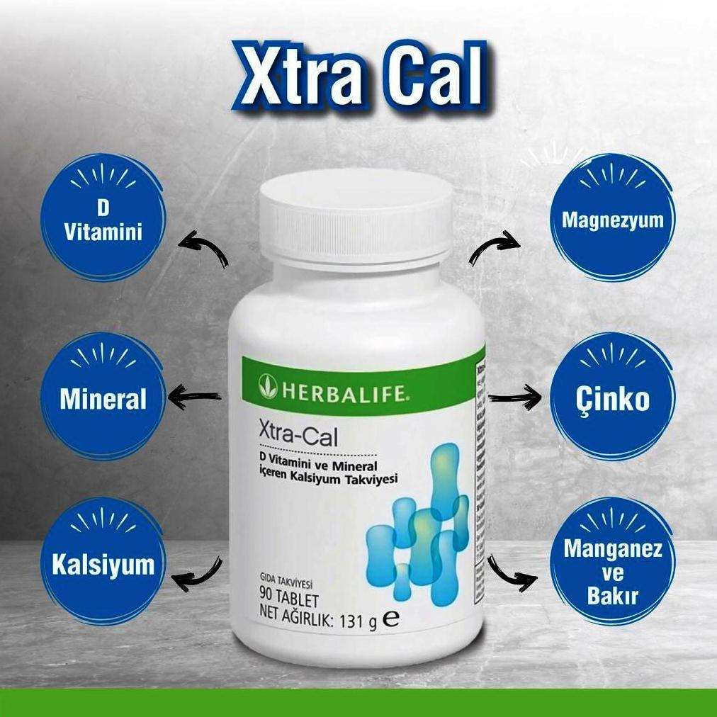 Herbalife Nutrition XtraCal D Vitamini ve Mineral İçeren Kalsiyum Takviyesi