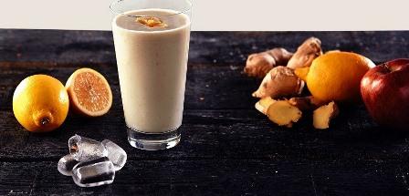 Herbalife Formül 1 vanilya Aromalı Shake Karışımın, elma, limon ve zencefil ile harika buluşması.Lezzetli bir tarif.