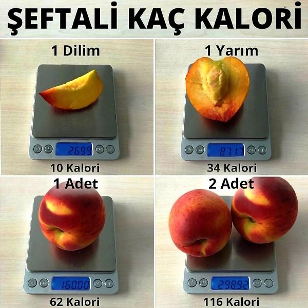 Şeftali çok güzel bir meyve, fakat her şeyin fazlası gibi onun fazlası da çok kalori demek.