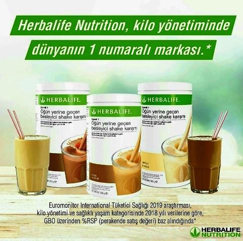 Euromonitor International Tüketici Sağlığı 2019 araştırması, kilo yönetimi ve sağlıklı yaşam kategorisinde 2018 yılı verilerine göre, GBO üzerinden % RSP ( perakende satış değeri ) baz alındığında, Herbalife Nutrition kilo yönetiminde dünyanın bir numaralı markası