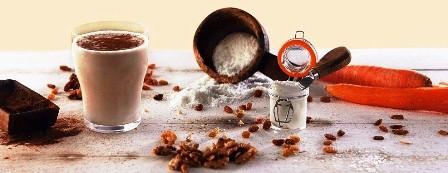 Herbalife Vanilya Aromalı Shake Karışımın, havuç, ceviz, tarçın ve hindistan cevizi ile şahane birleşimi.