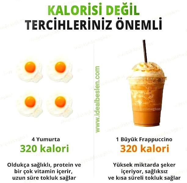 Gıdaların kalorisi değil, sizi ne kadar besleyici içerik barındırdığı çok daha önemli.
