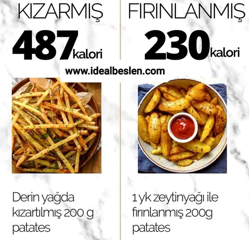 Patates seviyorsanız, nasıl pişirildiği ve kalorisini izlemeniz gerekir.