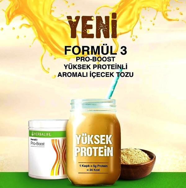 Formül 3 Pro-Boost Yüksek Proteinli Aromalı İçecek ile günlük protein alımınızı hem kaliteli hem de çok kolay sağlayabilirsiniz.