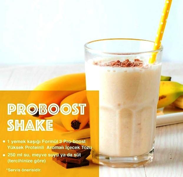 Formül 3 Pro-Boost protein ihtiyacınızı kaliteli, güvenli ve lezzetli bir şekilde karşılamanızı sağlar.