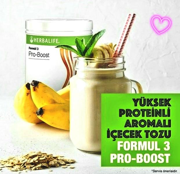 Herbalife Nutrition Formül 3 Pro-Boost Yüksek Proteinli Aromalı İçecek Tozu