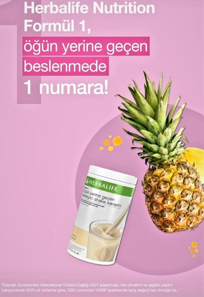 Herbalife Nutrition Formül 1 öğün yerine geçen besleyici shake karışım