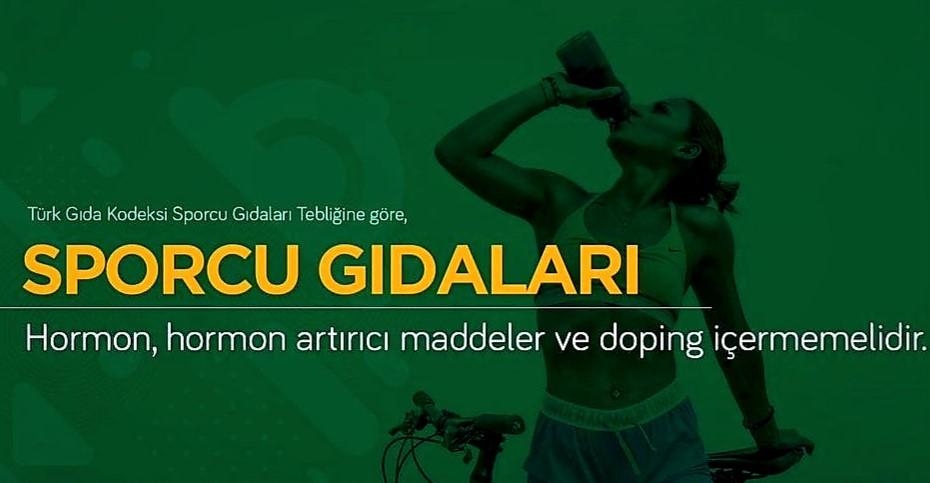 Sporcu gıdaları doping içermemelidir.
