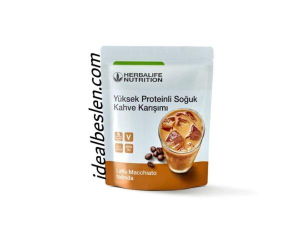 Proteinli Soğuk Kahve Karışımı Latte Macchiato