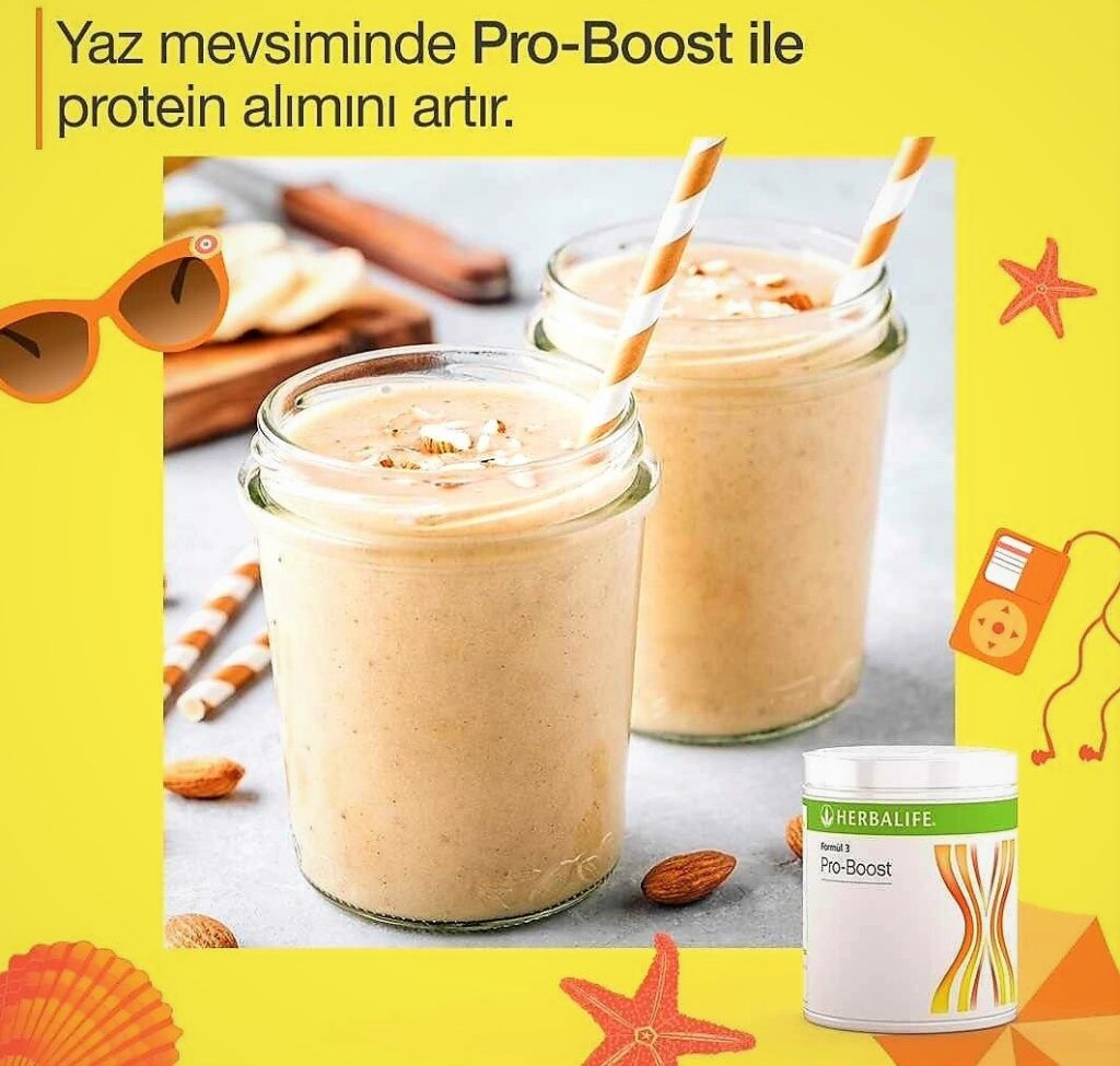 Herbalife Pro-Boost ile daha çok protein.