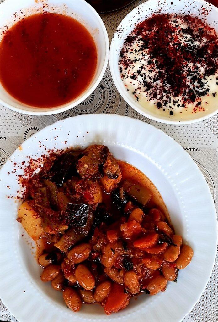 patlıcan, barbunya, çorba, yoğurt