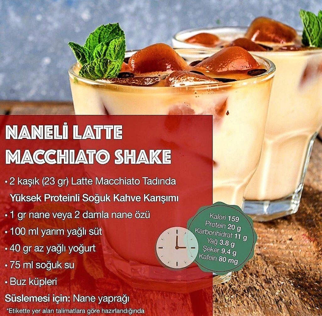 Herbalife Nutrition Naneli Latte Machiatto Shake.